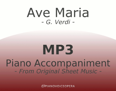 PianoVoiceOpera Ave Maria Verdi Dante Piano Accompaniment