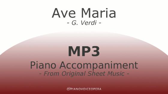 PianoVoiceOpera Ave Maria Verdi Dante Piano Accompaniment