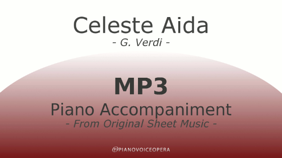 PianoVoiceOpera Celeste Aida Piano Accompaniment