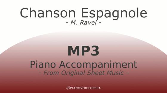 PianoVoiceOpera Chanson Espagnole Piano Accompaniment