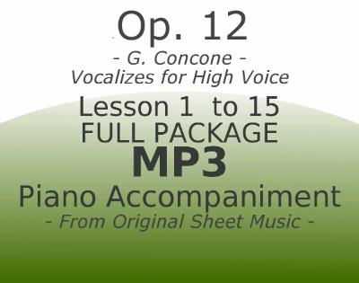Concone Op12 High Voice