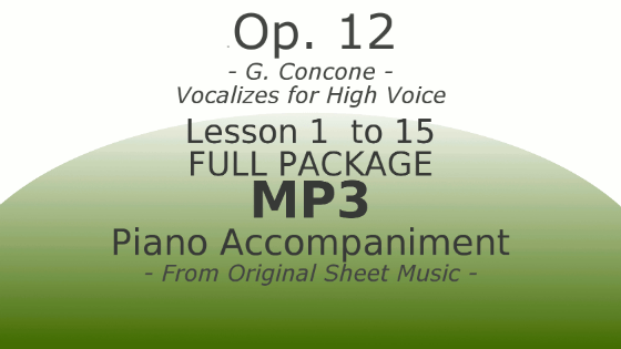 Concone Op12 High Voice