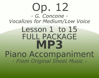 Concone Op12 Medium Low Voice