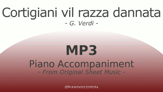 Cortigiani vil razza dannata Piano Accompaniment