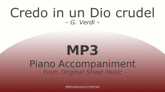 credo in un dio crudel piano accompaniment