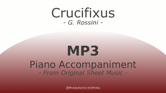 Crucifixus Piano Accompaniment