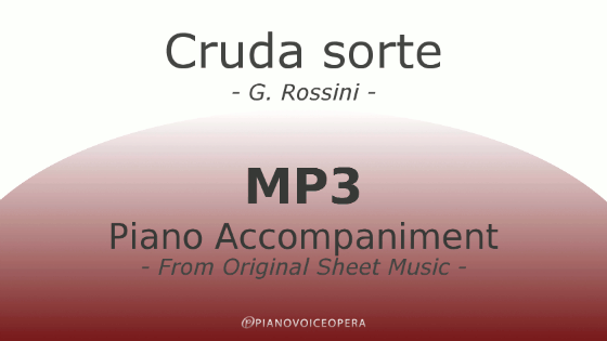 PianoVoiceOpera Cruda sorte Piano Accompaniment