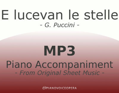PianoVoiceOpera E lucevan le stelle Piano Accompaniment