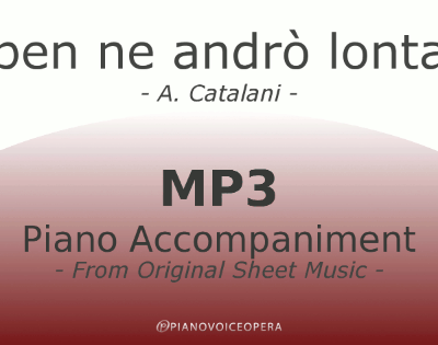 PianoVoiceOpera Ebben ne andrò lontana Piano Accompaniment
