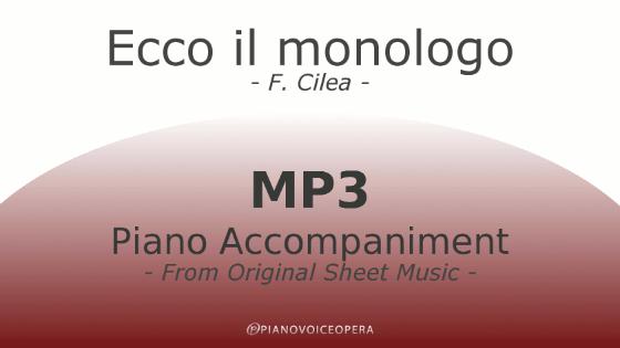 PianoVoiceOpera Ecco il monologo Piano Accompaniment