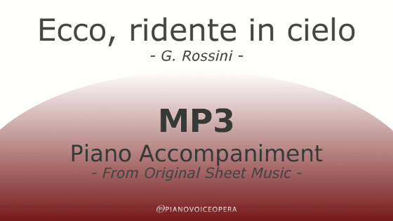 Ecco, ridente in cielo Piano Accompaniment
