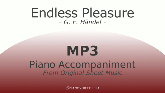 PianoVoiceOpera Endless Pleasure Piano Accompaniment