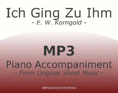 PianoVoiceOpera Ich Ging Zu Ihm Piano Accompaniment