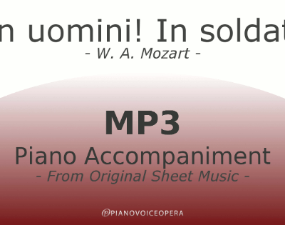 PianoVoiceOpera In uomini In soldati Piano Accompaniment