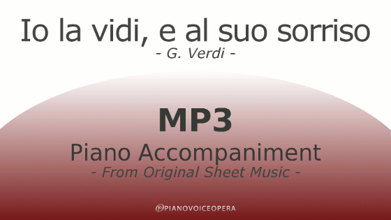 Io la vidi e al suo sorriso Piano Accompaniment