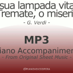 PianoVoiceOpera La sua lampada vitale Tremate, o miseri! Piano Accompaniment