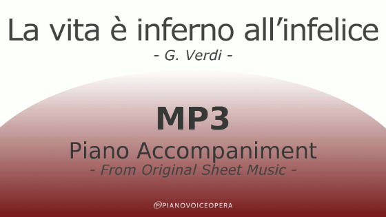 La vita è inferno all'infelice Piano Accompaniment