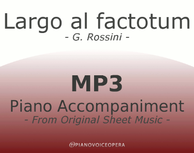 PianoVoiceOpera Largo al factotum Piano Accompaniment