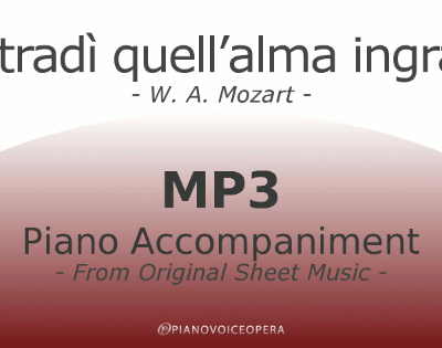 PianoVoiceOpera Mi tradì quell'alma ingrata Piano Accompaniment
