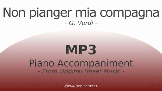 Non pianger mia compagna Piano Accompaniment