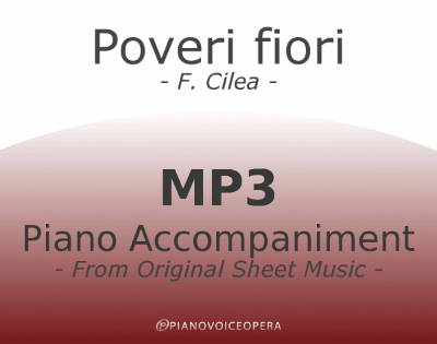 PianoVoiceOpera Poveri fiori Piano Accompaniment