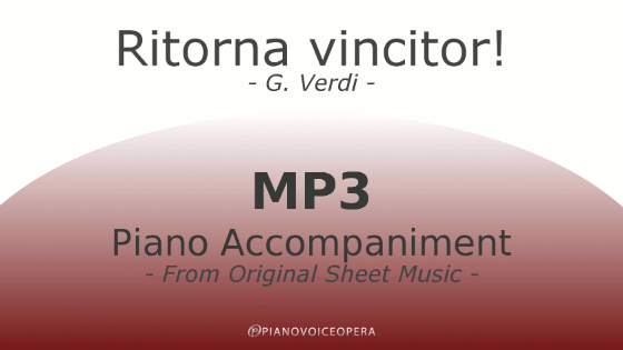 PianoVoiceOpera Ritorna vincitor Piano Accompaniment