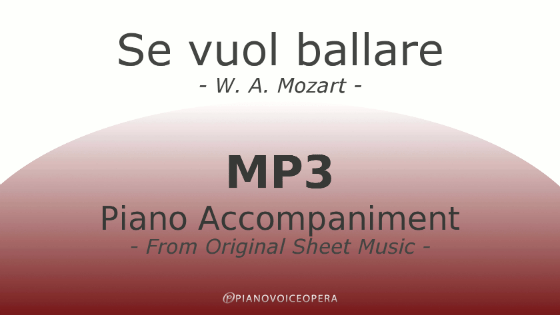 Se vuol ballare Piano Accompaniment