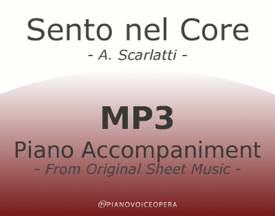 PianoVoiceOpera Sento nel Core Piano Accompaniment