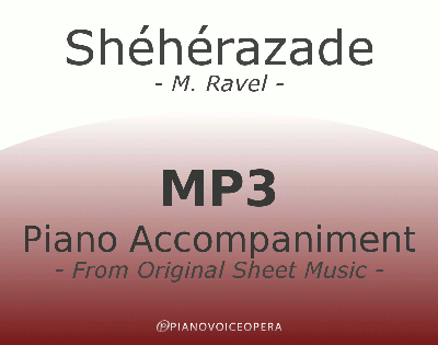 PianoVoiceOpera Asie Sheherazade Piano Accompaniment