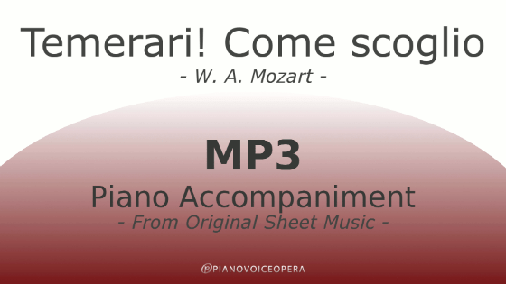PianoVoiceOpera Temerari - Come scoglio Piano Accompaniment