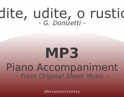 PianoVoiceOpera Udite udite o rustici Piano Accompaniment