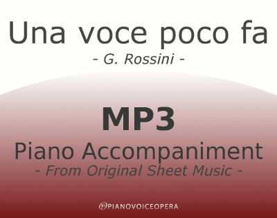 PianoVoiceOpera Una voce poco fa Piano Accompaniment