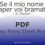 Anch'io son giovine Easy Piano Sheet Music
