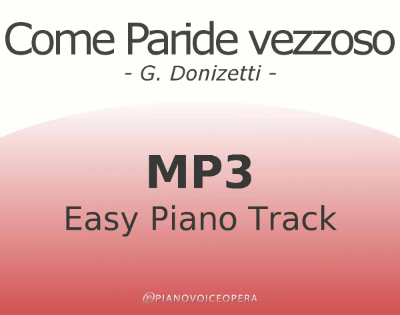 Come paride vezzoso Easy Piano Accompaniment