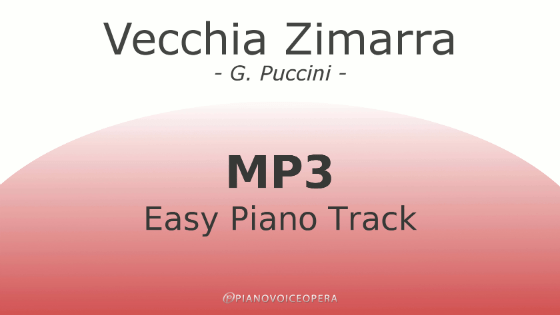 Vecchia Zimarra Easy Piano Accompaniment