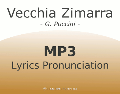 Vecchia Zimarra Lyrics Pronunciation