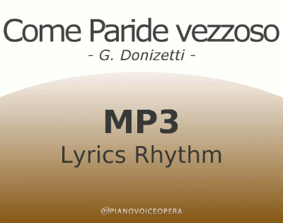 Come paride vezzoso Lyrics Rhythm