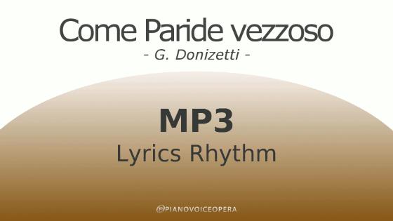 Come paride vezzoso Lyrics Rhythm