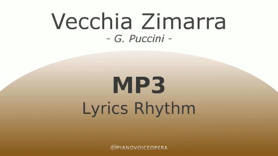 Vecchia Zimarra Lyrics Rhythm