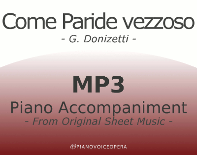 Come paride vezzoso Piano Accompaniment