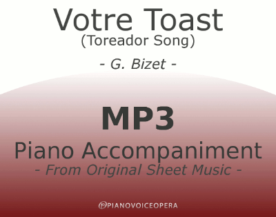 Votre toast (Toreador Song) Piano Accompaniment