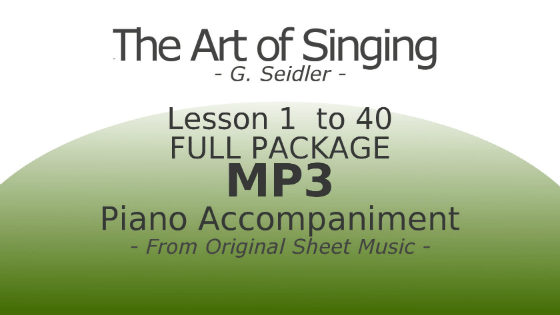 The Art of Singing Piano Accompaniment Full Package