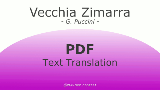 Vecchia Zimarra Text Translation
