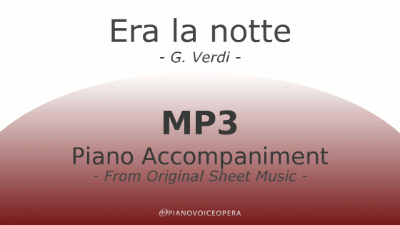 PianoVoiceopera Era la notte Piano Accompaniment