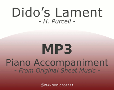 PianoVoiceOpera When I am laid in earth Dido's Lament Piano Accompaniment