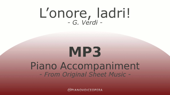 PianoVoiceOpera L'onore, ladri! Piano Accompaniment