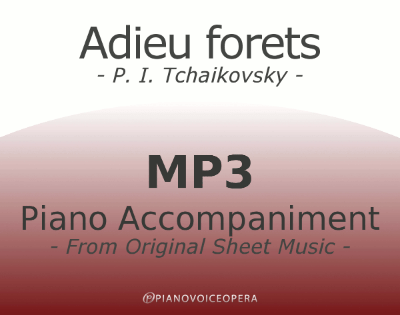 PianoVoiceOpera Adieu forets Piano Accompaniment