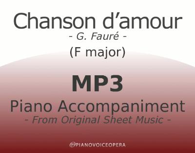 PianoVoiceOpera Chanson d'amour Piano Accompaniment (medium voice)