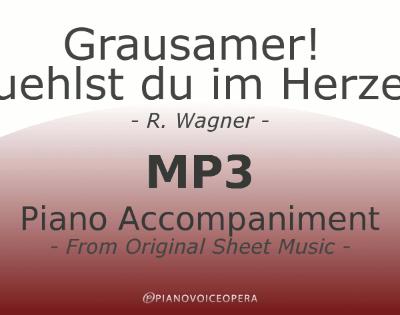 PianoVoiceOpera Grausamer Fuehlst du im Herzen Piano Accompaniment