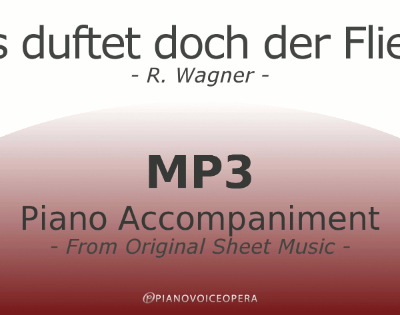 PianoVoiceOpera Was duftet doch der Flieder Piano Accompaniment